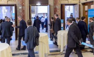 Eingangsbereich und Ankunft der Gäste beim BMÖ-EinkaufsForum 2016