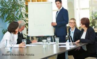 Abhalten von EDI Schulungen in einem Meetingraum