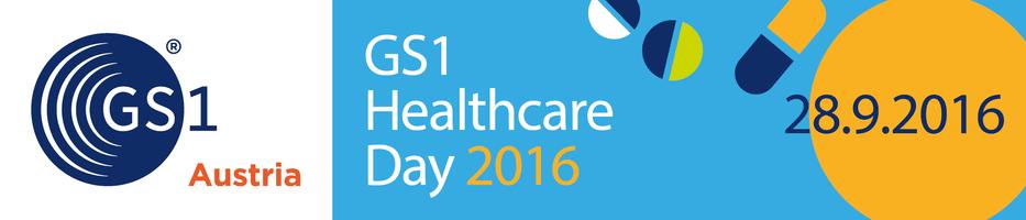 GS1Austria Logo und healthcare day 2016 logo