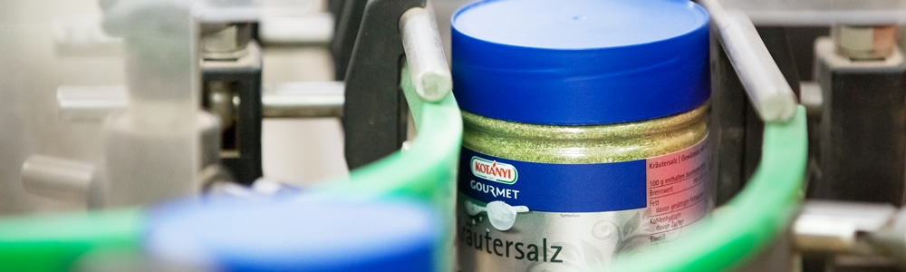 Produktionsanlage von Kräutersalz - EDI bei Kotányi