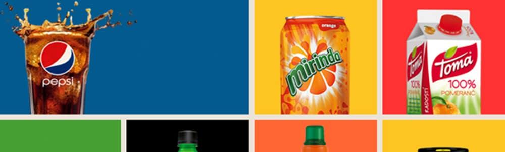 Auswahl an Pepsico Produkte - EDI Services für Pepsico
