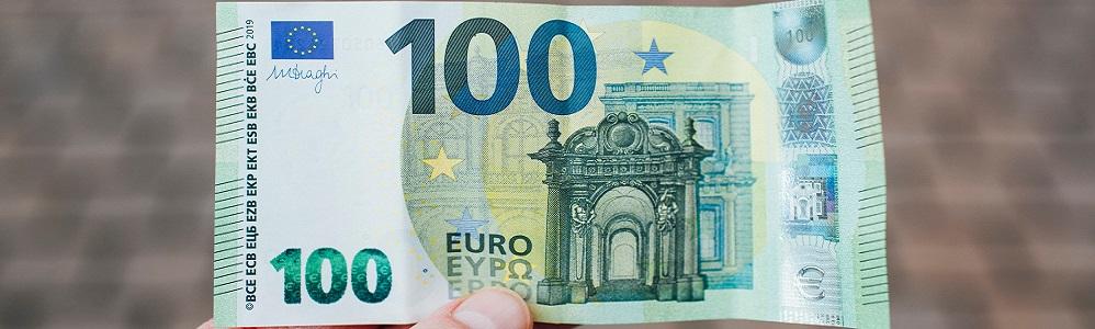 """100 Euro Schein repräsentativ für """"Forderungen vorfinanzieren"""""""