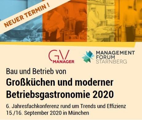 Kongressbanner für Bau und Betrieb von Großküchen und moderner Betriebsgastronomie 2020