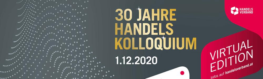 Banner: Handelsverband feiert 30 Jahre Handelskolloquium